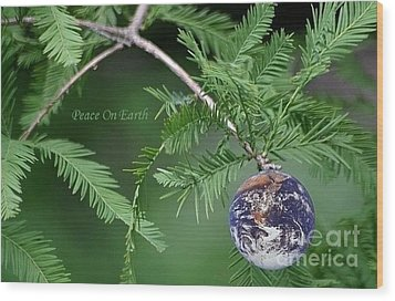 Peace On Earth Wood Print by Living Color Photography Lorraine Lynch