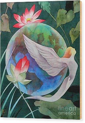 Peace On Earth Wood Print