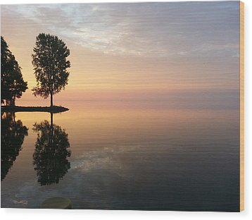 Peace On The Water Wood Print by Jack G  Brauer