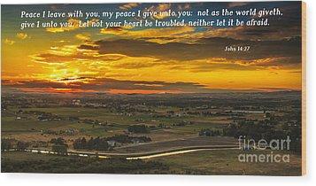 Peace Wood Print by Robert Bales