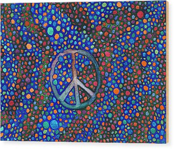 Peace Sign Wood Print by Janice Dunbar