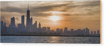 Peaceful Chicago Wood Print by John Hansen