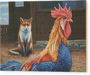 Peaceful Coexistence Wood Print by James W Johnson