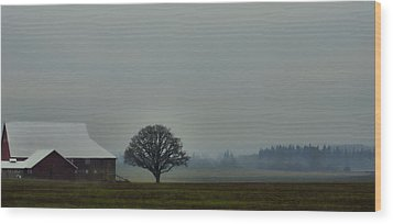 Peaceful Country Morning Wood Print by Don Schwartz