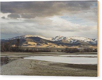 Peaceful Day In Helena Montana Wood Print by Dana Moyer