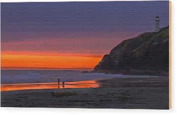 Peaceful Evening Wood Print by Robert Bales
