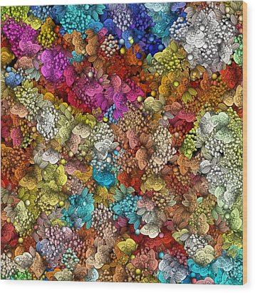 Peaceful Flowers  Wood Print by George Curington