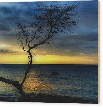 Peaceful Hawaii Wood Print by Kim Hojnacki