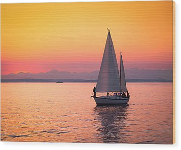 Peaceful Journey Wood Print by Anthony J Wright