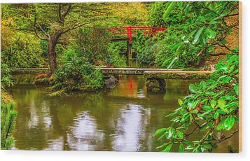 Peaceful Morning At Kubota Gardens Wood Print