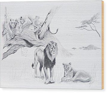 Peaceful Pride Wood Print