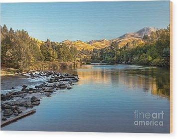 Peaceful River Wood Print by Robert Bales