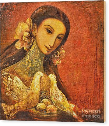 Peaceful Wood Print by Shijun Munns