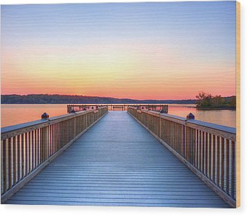 Peaceful Spot Wood Print by JC Findley