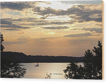 Wood Print featuring the digital art Peaceful Sunset by Lorna Rogers Photography