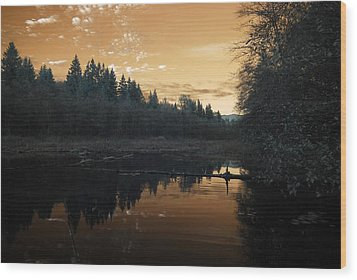 Wood Print featuring the photograph Peaceful Sunset by Rebecca Parker