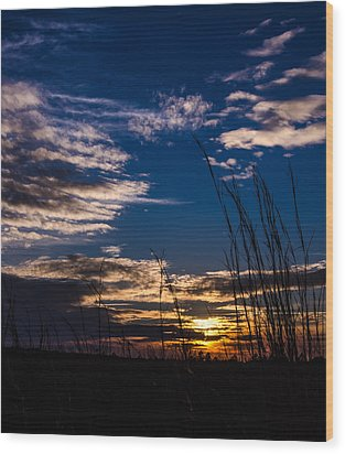 Peaceful Sunset Wood Print