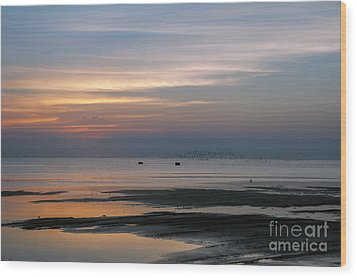 Peaceful Sunset Wood Print by Tammy Smith