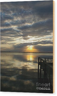 Wood Print featuring the photograph Peaceful Sunset by Tannis  Baldwin