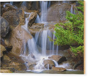 Wood Print featuring the photograph Peaceful Waterfall by Jordan Blackstone