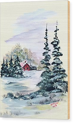 Peaceful Winter Wood Print