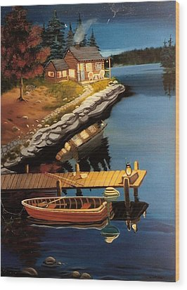 Wood Print featuring the painting Peacefullness by Susan Roberts