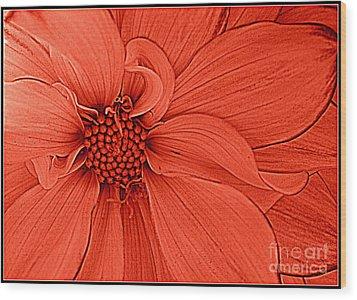 Peach Blossom Wood Print by Dora Sofia Caputo Photographic Design and Fine Art
