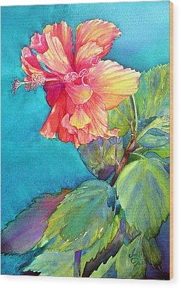Peach Paradise Wood Print