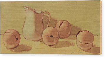 Peaches And Cream Wood Print