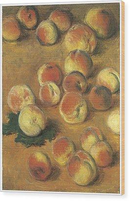 Peaches Wood Print by Claude Monet