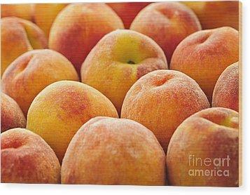 Peaches Wood Print by Elena Elisseeva