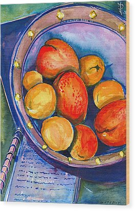 Peaches Wood Print by Ion vincent DAnu