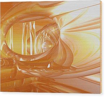 Peaches N' Cream Wood Print by Joshua Thompson