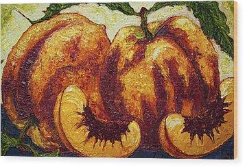 Peaches Wood Print by Paris Wyatt Llanso