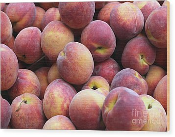 Peachy Wood Print by Denise Pohl