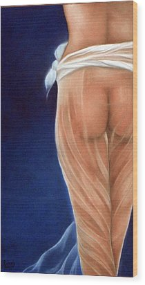 Peachy Wood Print by Neil Kinsey Fagan