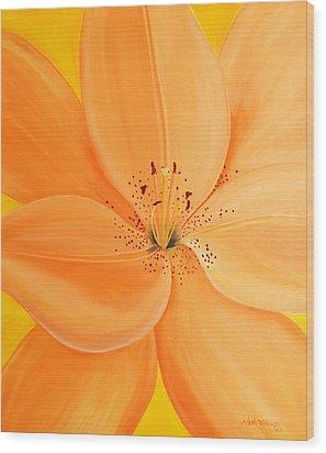 Peachy Summer Wood Print by Maria Williams