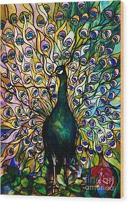 Peacock Wood Print by American School