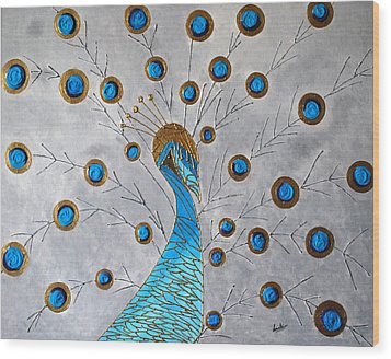 Peacock And Its Beauty Wood Print by Sonali Kukreja