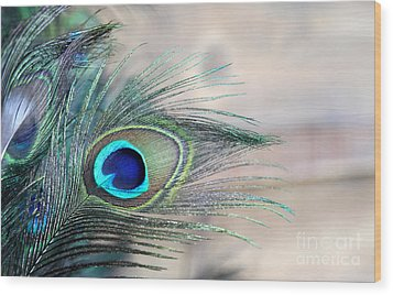 Peacock Eye Wood Print
