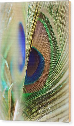 Peacocks Dance The Samba Wood Print by Lisa Knechtel