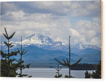 Wood Print featuring the photograph Peaking The Clouds by Jan Davies