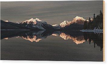 Peaks Wood Print by Aaron Aldrich