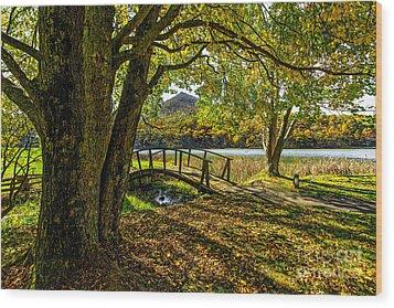 Peaks Bridge Wood Print by Mark East