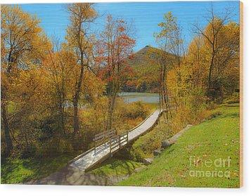 Peaks Walk Wood Print by Mark East