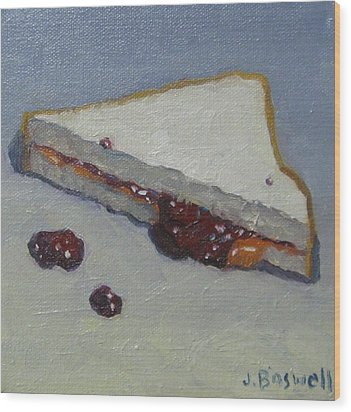 Peanut Butter And Jelly Sandwich Wood Print