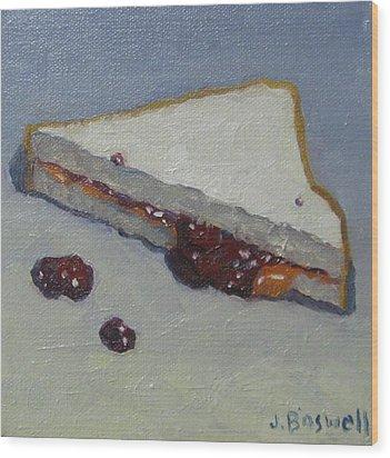 Peanut Butter And Jelly Sandwich Wood Print by Jennifer Boswell