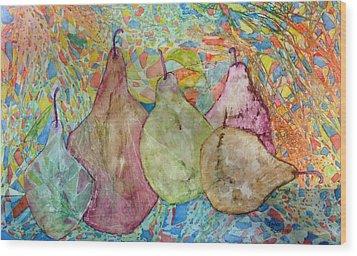 Pear-a-dice Wood Print
