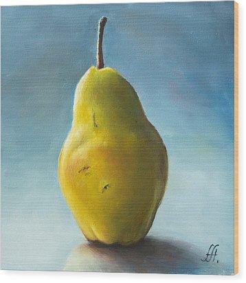 Pear Wood Print by Anna Abramska