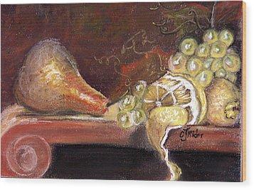 Pear Wood Print by CJ  Rider